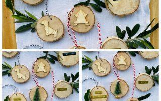 DIY, Baumscheibendekoration, Weihnachten