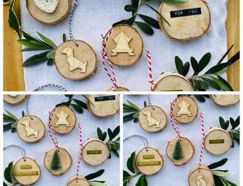 Weihnachtsquickies: Papiersterne, Weihnachtsbügel und Baumscheibenanhänger