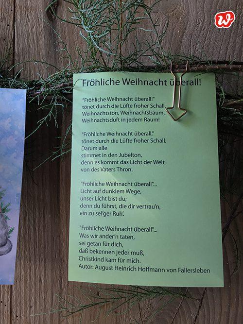 Wunderle Postkarte Fröhliche Weihnacht überall
