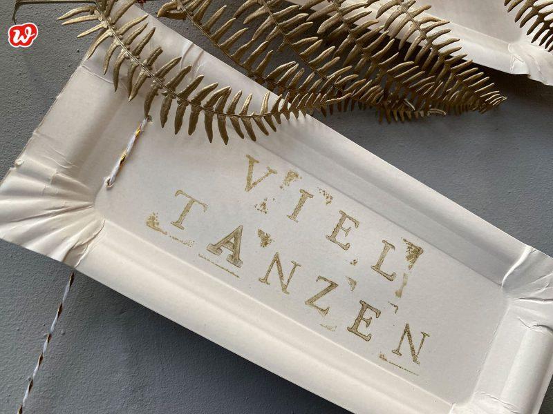 DIY Girlande Pappe Viel Tanzen