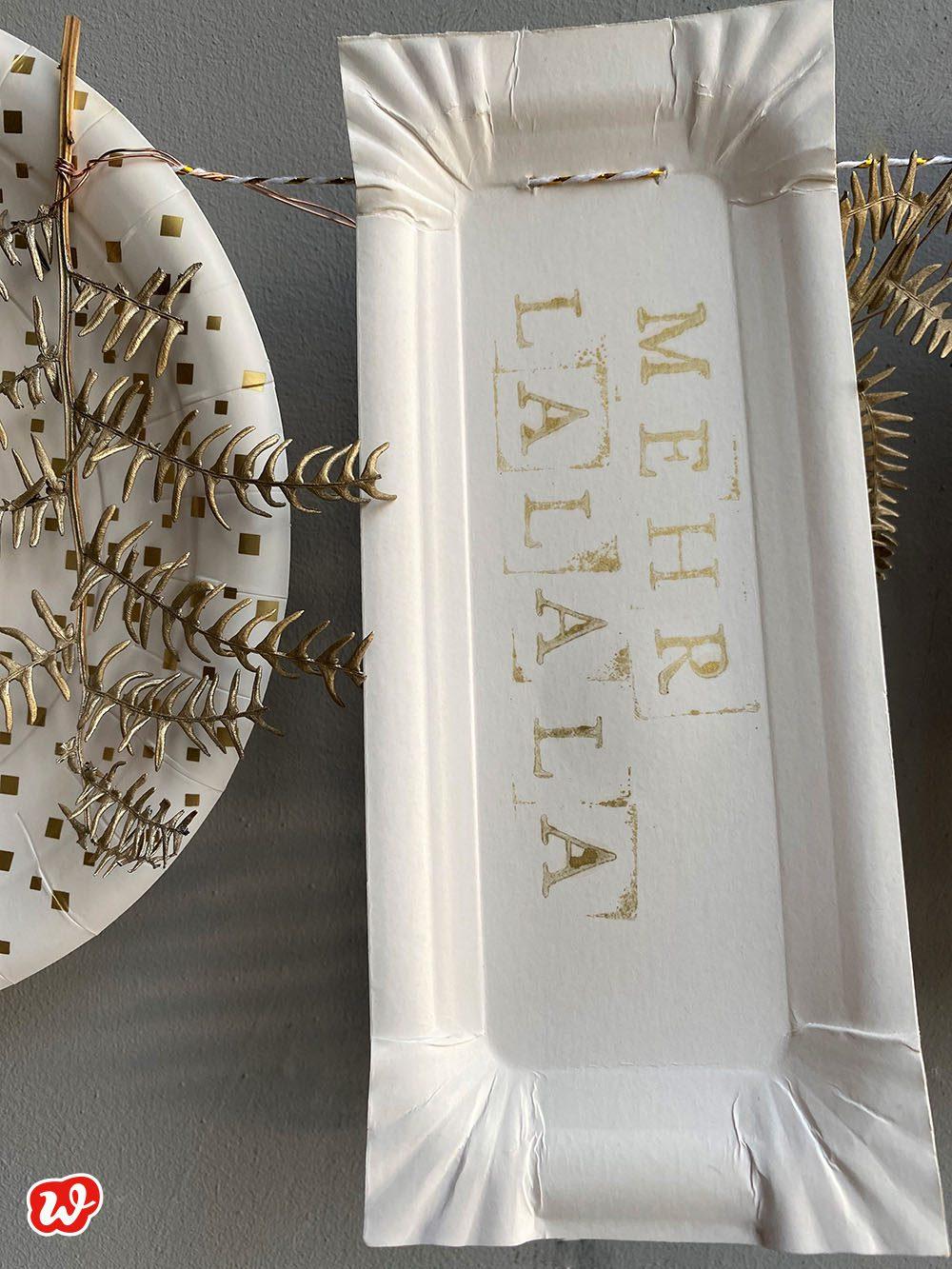DIY Wurstpappe bestempelt Mehr LaLaLa