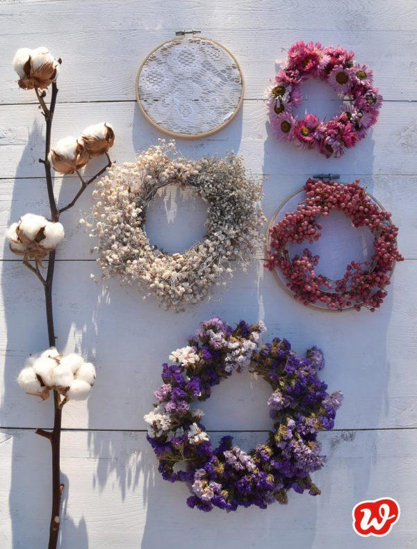 DIY Trockenblumenkränze