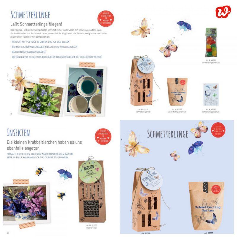 Wunderlekatalog Schmetterlingsprodukte