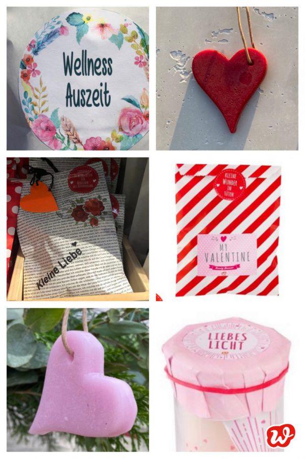 Kollage Valentinsgeschenke
