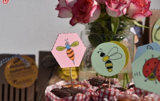 Wunderle Freebies Insekten in Kuchen