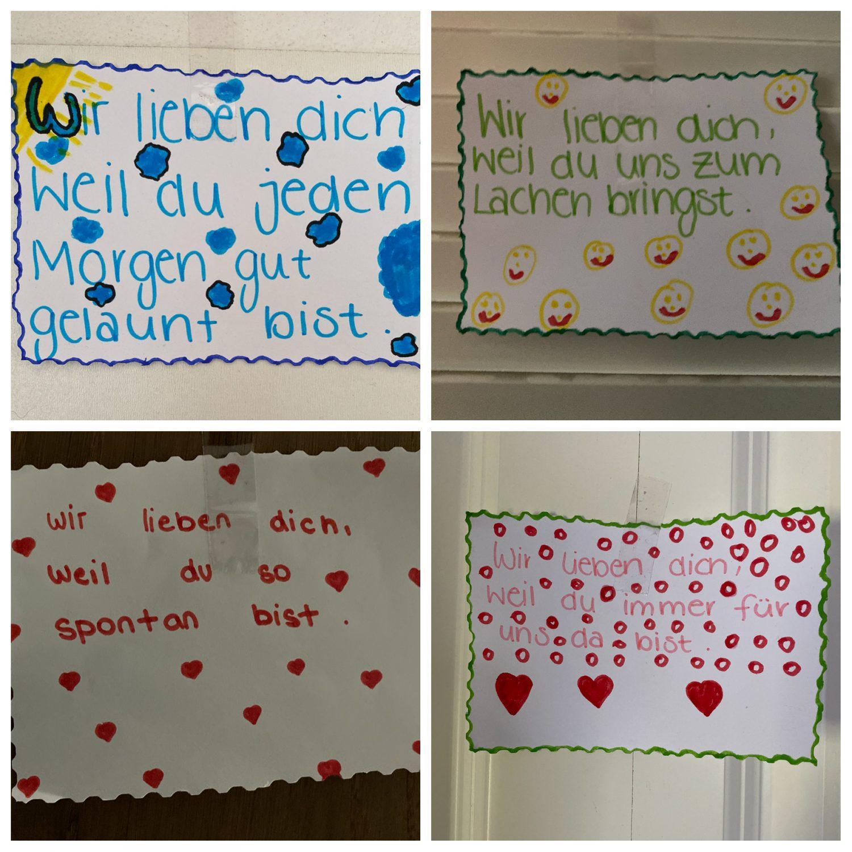 Liebesbriefe von Kinderhand geschrieben