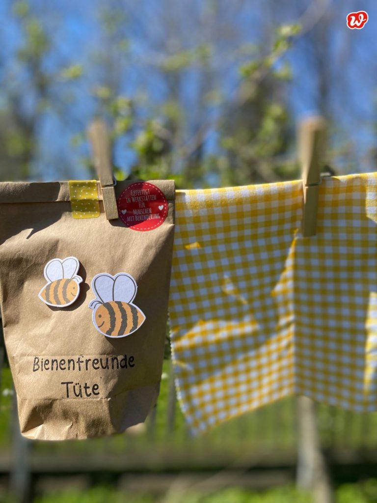Wunderle Bienenfreunde Wundertüte auf Wäscheleine