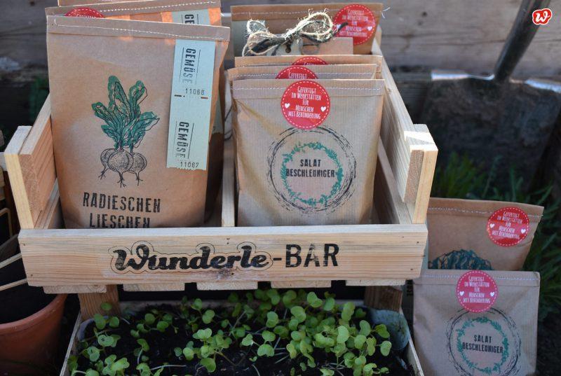 Wunderle-Bar mit Salatbeschleuniger und Radieschenlieschen Wundertüten
