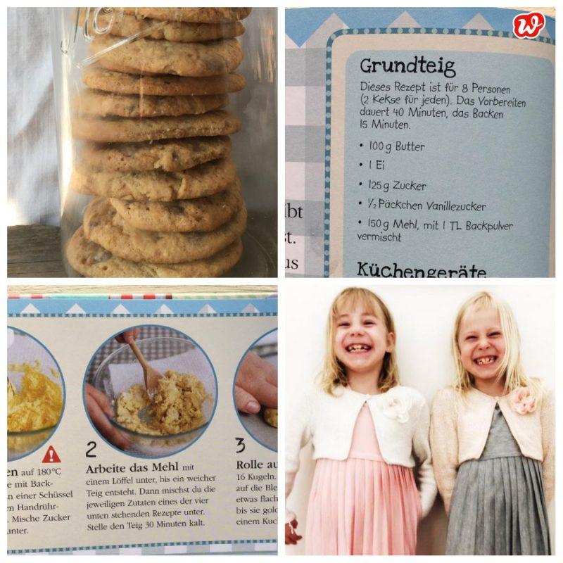 Kollage Cookies mit Rezeptausschnitten