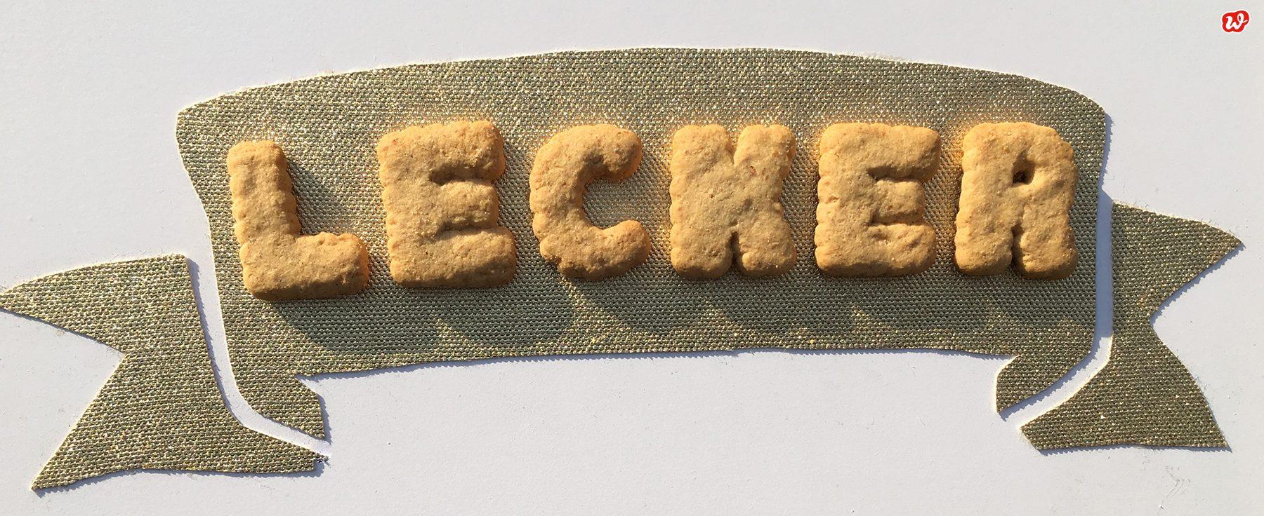 Lecker aus Buchstabenkeksen