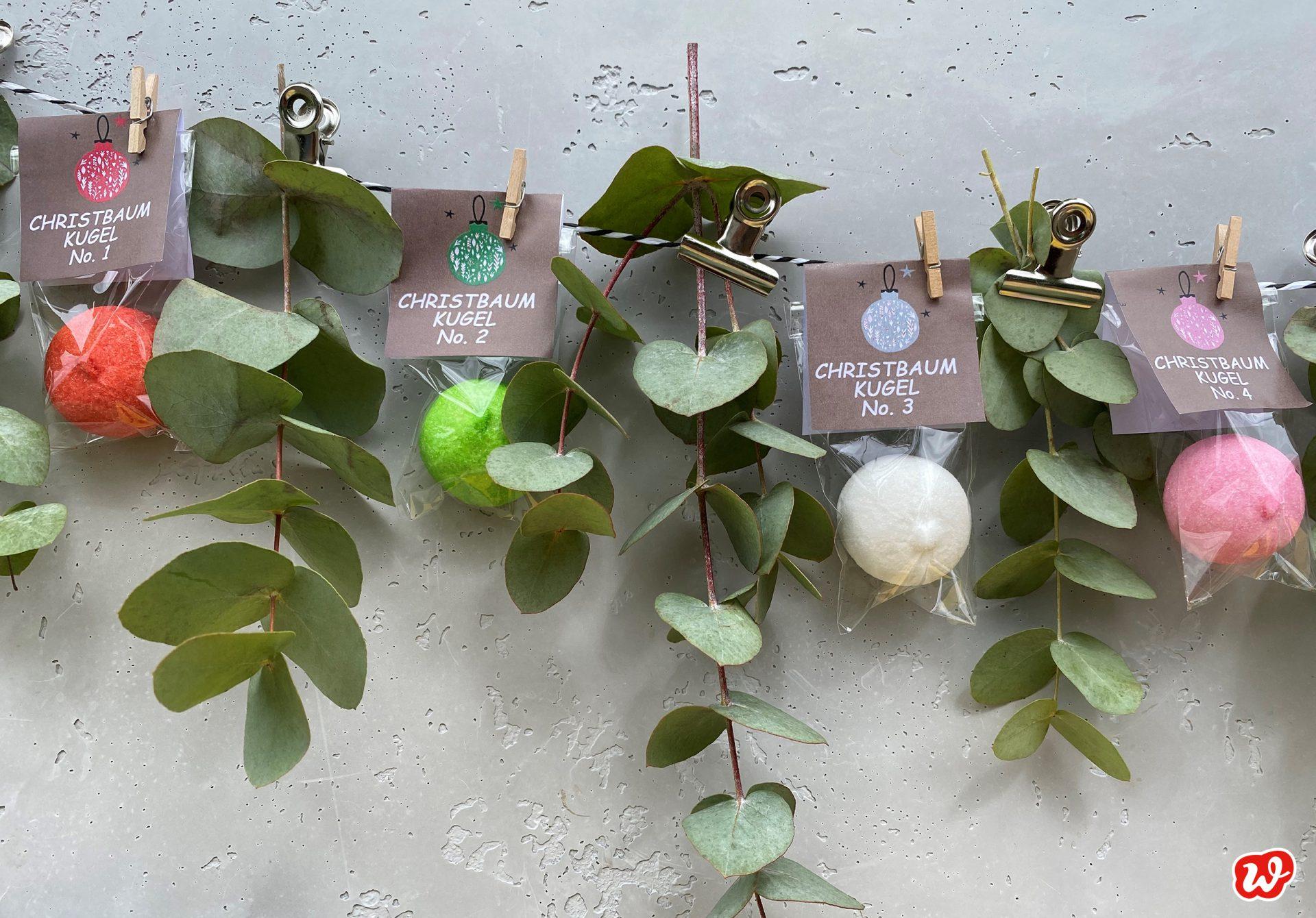 Wunderle süße Christbaumkugeln