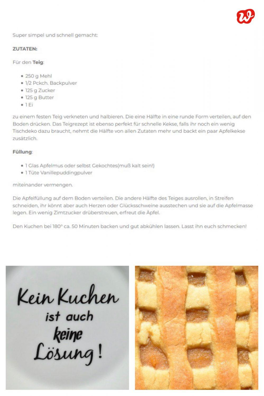Kollage Kuchenrezept