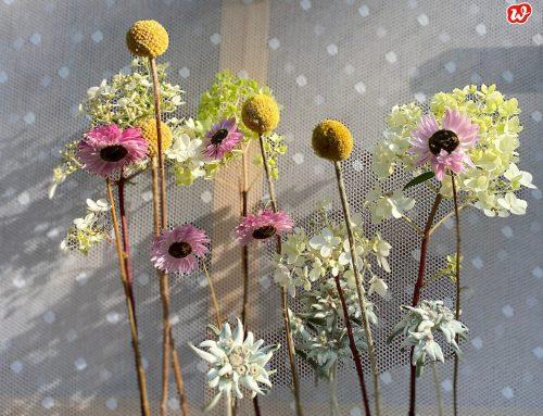 Trockenblumen modern interpretiert: 1 DIY Trockenblumenständer