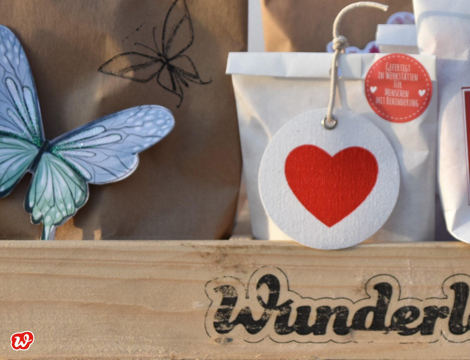 Wunderle Herzanhänger und Schmetterling
