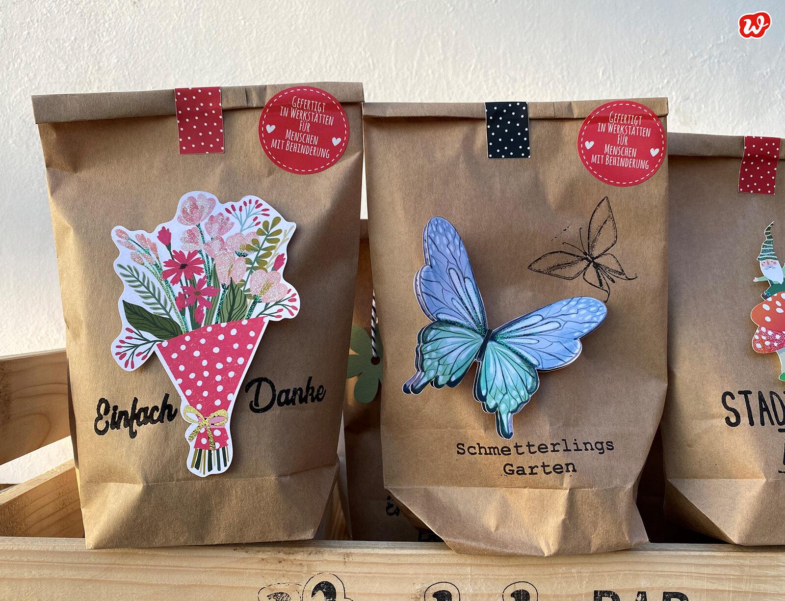 Neuheiten 2021 Wunderle Packpapierwundertüten, Einfach Danke und Schmetterlingsgarten