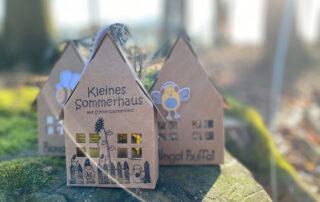 Mini Geschenkhäuser im Wald
