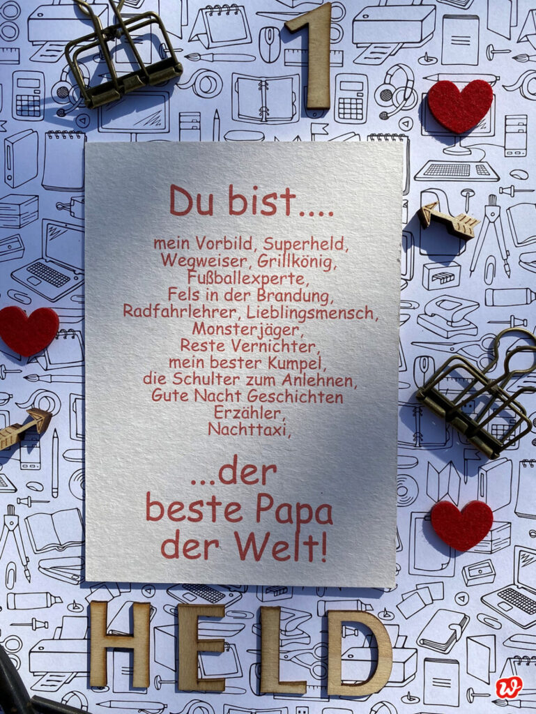 Postkarte Bester Papa