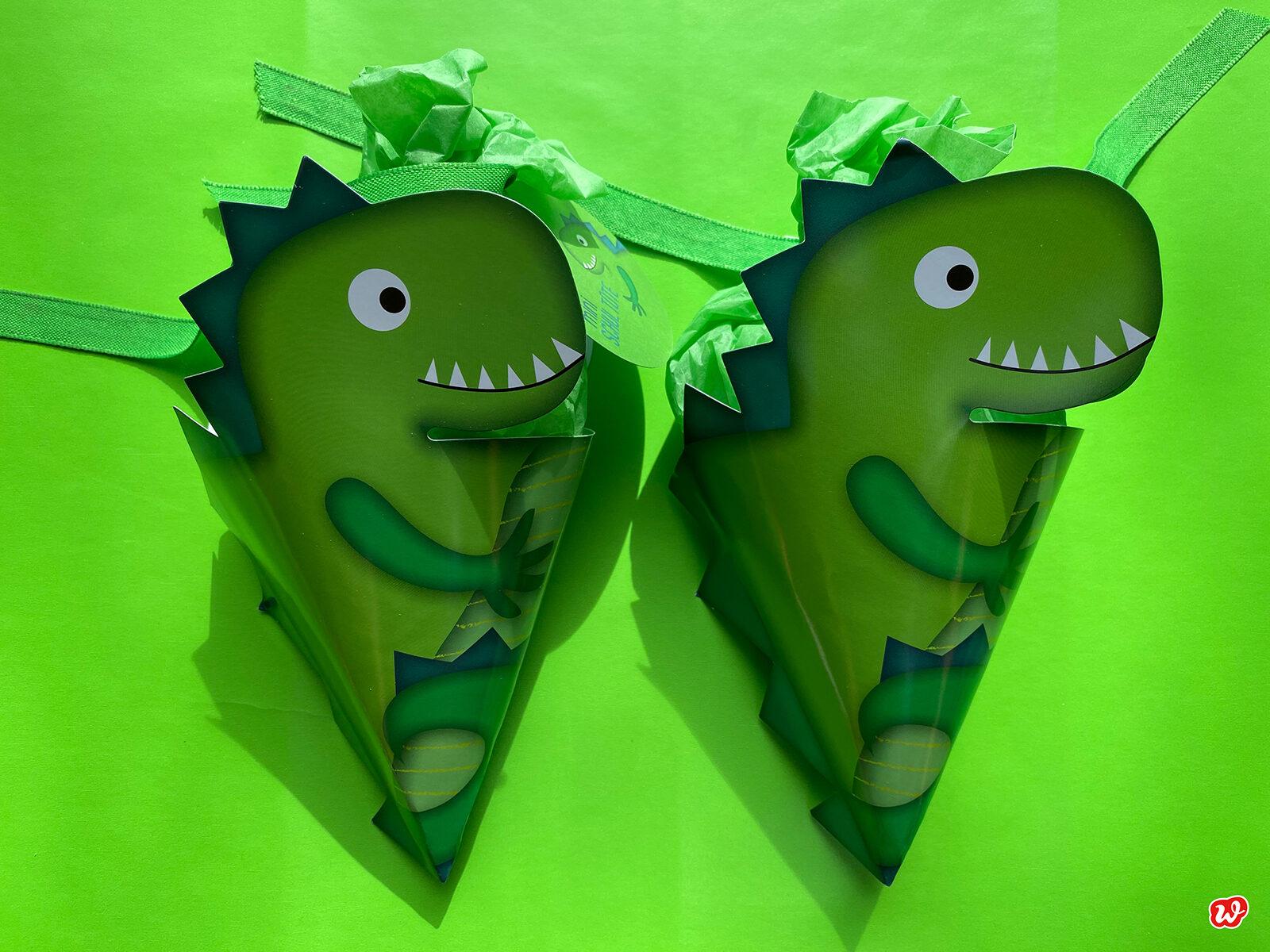 2 Mini Schultüten Dinosaurier