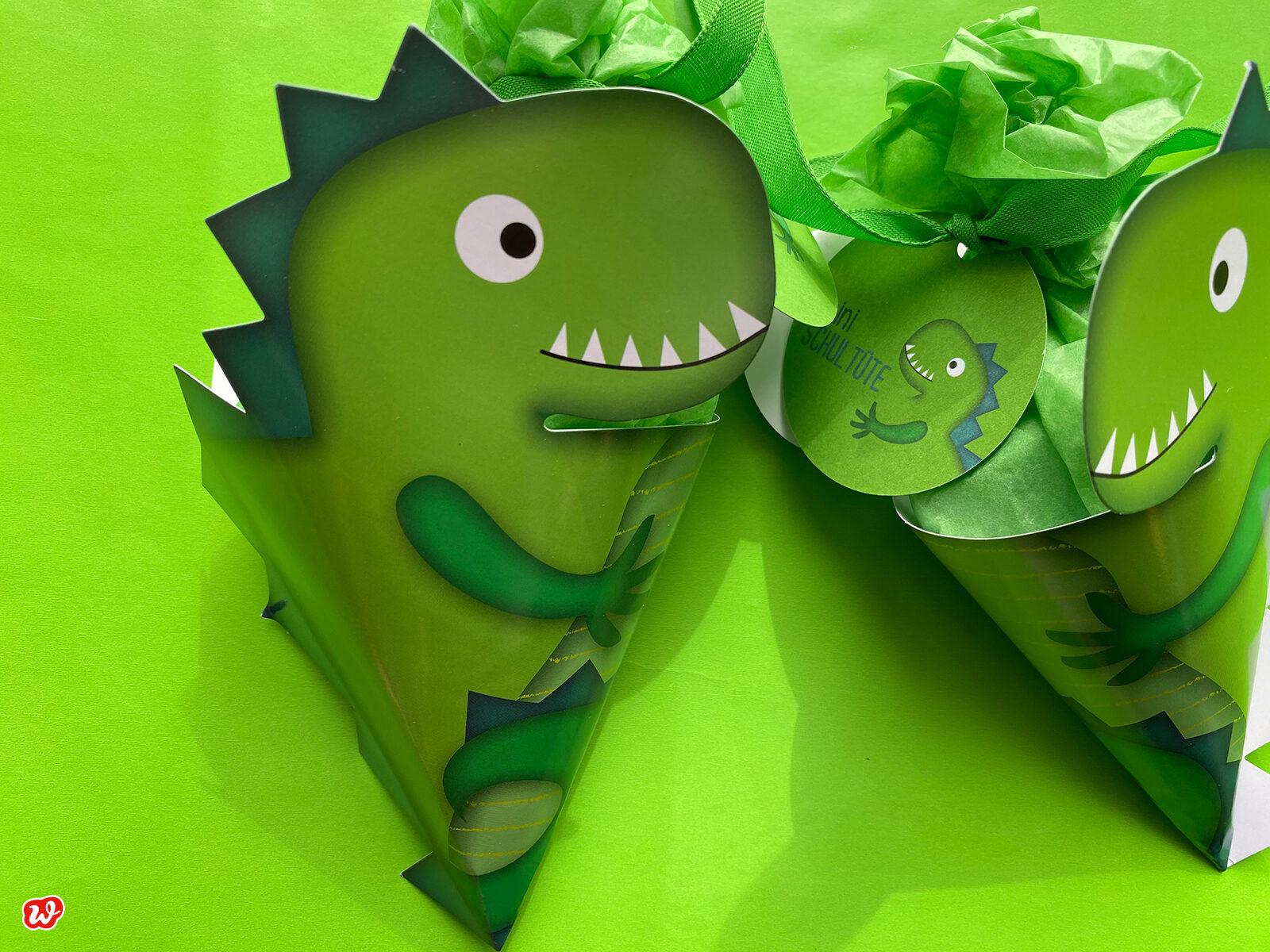 Mini Schultüten Dinosaurier