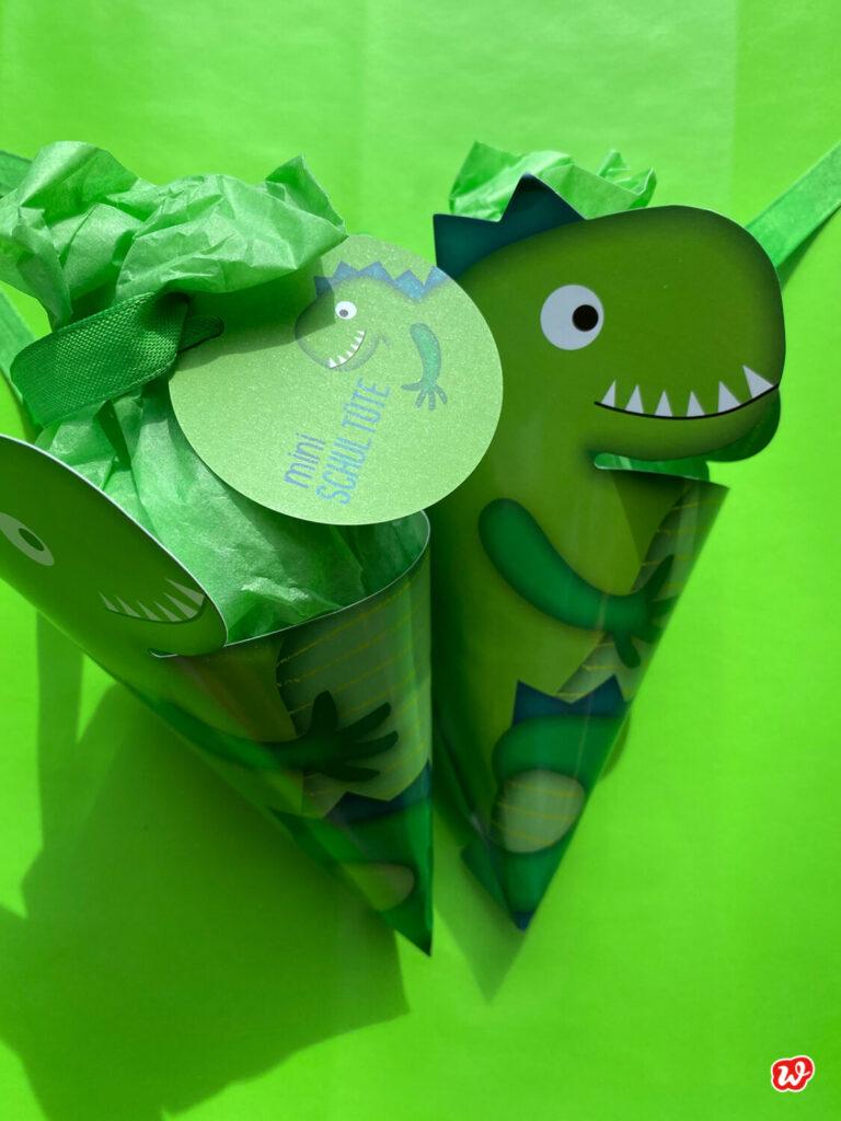 Mini Schultüte Dinosaurier