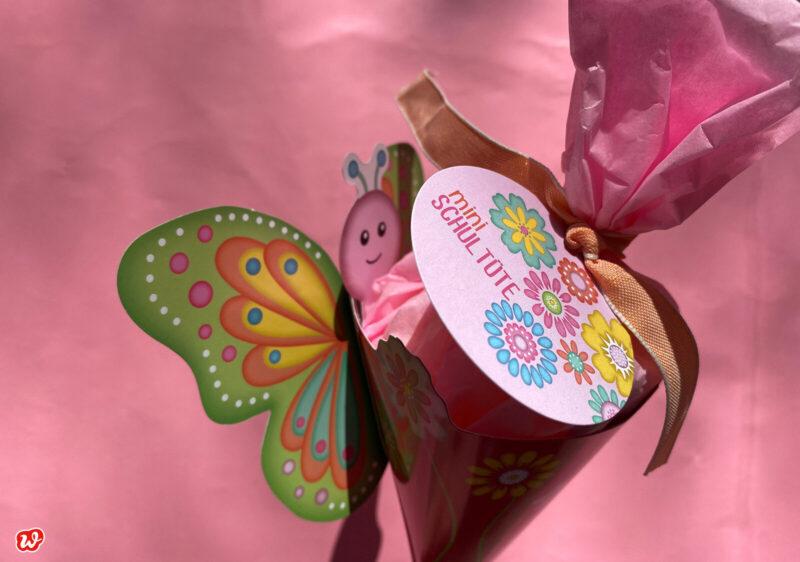 Mini Schmetterlings Schultüte