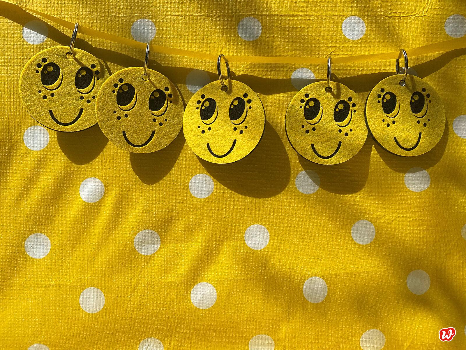 Smiley Schlüsselanhänger