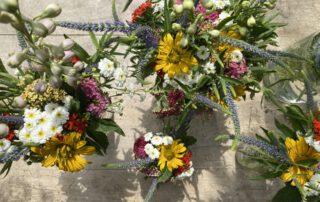 Tischdeko Sommerblumen