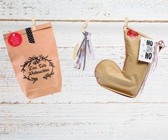 Weihnachtstüten als Geschenk für Wiederverkäufer